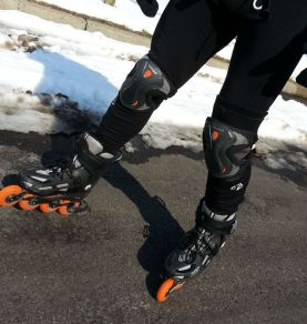 There's still snow in the street, but we just skate around it. It will be gone soon.