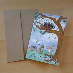 A picture of a notecard and envelope.